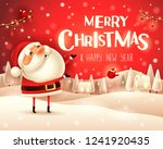 merry christmas  santa claus... | Shutterstock .eps vector #1241920435