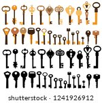 key  set  collection | Shutterstock .eps vector #1241926912