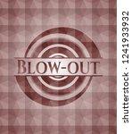 blow out red seamless emblem... | Shutterstock .eps vector #1241933932