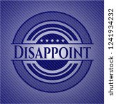 disappoint badge with denim... | Shutterstock .eps vector #1241934232