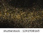 gold glitter halftone dotted... | Shutterstock .eps vector #1241938165