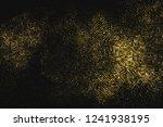 gold glitter halftone dotted...   Shutterstock .eps vector #1241938195