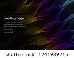 modern vector black background... | Shutterstock .eps vector #1241939215