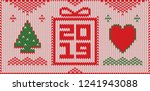 christmas greeting card with... | Shutterstock .eps vector #1241943088
