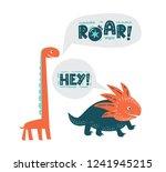 dinosaurs cute vector... | Shutterstock .eps vector #1241945215