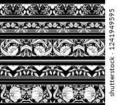 floral pattern in art nouveau... | Shutterstock .eps vector #1241949595