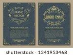 set of decorative vintage... | Shutterstock .eps vector #1241953468