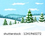 winter landscape with white... | Shutterstock .eps vector #1241960272
