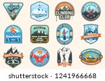 set of snowboarding and rock... | Shutterstock .eps vector #1241966668