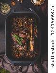 slow cooked venison roast in... | Shutterstock . vector #1241969875