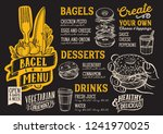 bagel and sandwich menu... | Shutterstock .eps vector #1241970025