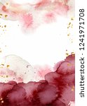 watercolor abstract background  ... | Shutterstock .eps vector #1241971708