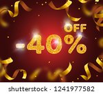 banner 40 off with share... | Shutterstock .eps vector #1241977582