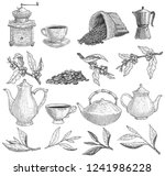 Set Of Teapots And Tea Tree...
