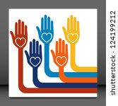 hand design with copy space... | Shutterstock .eps vector #124199212