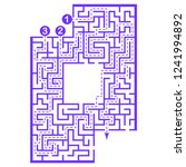 illustration with labyrinth... | Shutterstock .eps vector #1241994892