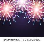fireworks explosioms greeting... | Shutterstock .eps vector #1241998408