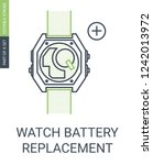 watch battery replacement icon | Shutterstock .eps vector #1242013972
