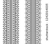 set of seamless borders for... | Shutterstock .eps vector #1242014035