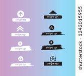 swipe up set stories vector.... | Shutterstock .eps vector #1242015955
