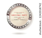round christmas design with... | Shutterstock .eps vector #1242018742