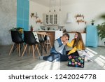young  lovers boyfriend and... | Shutterstock . vector #1242024778