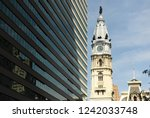 philadelphia city hall in... | Shutterstock . vector #1242033748