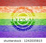 typical on mosaic background... | Shutterstock .eps vector #1242035815
