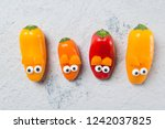 colorful sweet mini peppers in... | Shutterstock . vector #1242037825