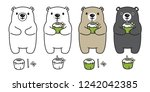 bear vector polar bear coconut... | Shutterstock .eps vector #1242042385