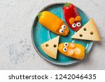 colorful sweet mini peppers in... | Shutterstock . vector #1242046435