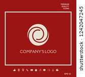 logotype   two spirals in a... | Shutterstock .eps vector #1242047245