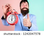 hipster happy working day is... | Shutterstock . vector #1242047578