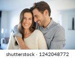 portrait of handsome couple in... | Shutterstock . vector #1242048772