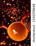 sky lanterns festival on... | Shutterstock . vector #1242058648