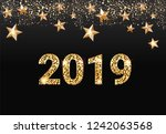 2019 new year greeting card... | Shutterstock .eps vector #1242063568
