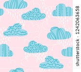 vector seamless pattern with... | Shutterstock .eps vector #1242063658