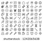 set of sewing related vector... | Shutterstock .eps vector #1242065638