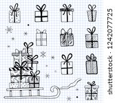 hand drawn illustration of... | Shutterstock .eps vector #1242077725