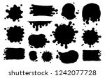 hand drawn set of paint... | Shutterstock .eps vector #1242077728