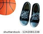 sports shoe with a basketballon ... | Shutterstock . vector #1242081238