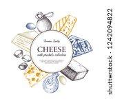 vector cheese design. hand... | Shutterstock .eps vector #1242094822