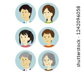 family icon  circle  | Shutterstock .eps vector #1242096058