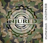 injured on camouflage texture | Shutterstock .eps vector #1242096508