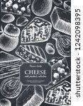 vector cheese design. hand...   Shutterstock .eps vector #1242098395