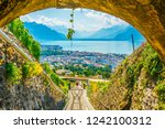 Small photo of funicular at Vevey ascending to Mont Pelerin in Switzerland