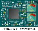 semiconductor electronic... | Shutterstock .eps vector #1242101908