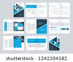 template layout design with... | Shutterstock .eps vector #1242104182