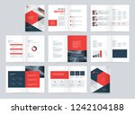 template layout design with... | Shutterstock .eps vector #1242104188