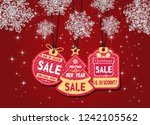 merry christmas and happy new... | Shutterstock .eps vector #1242105562